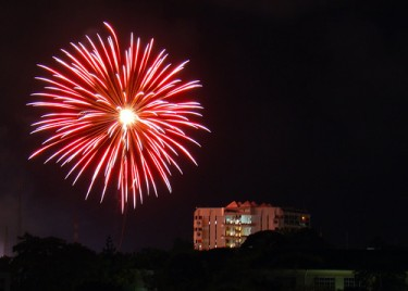 Fireworks over Mombasa, Kenya
